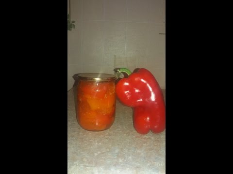 Лечо из болгарского перца с томатным соком на зиму