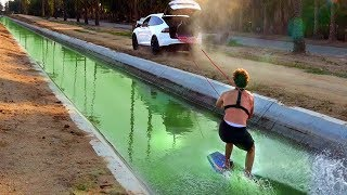 Wakeboarding Down PUBLIC DRAINAGE SYSTEM! (Gross Sewer Water)