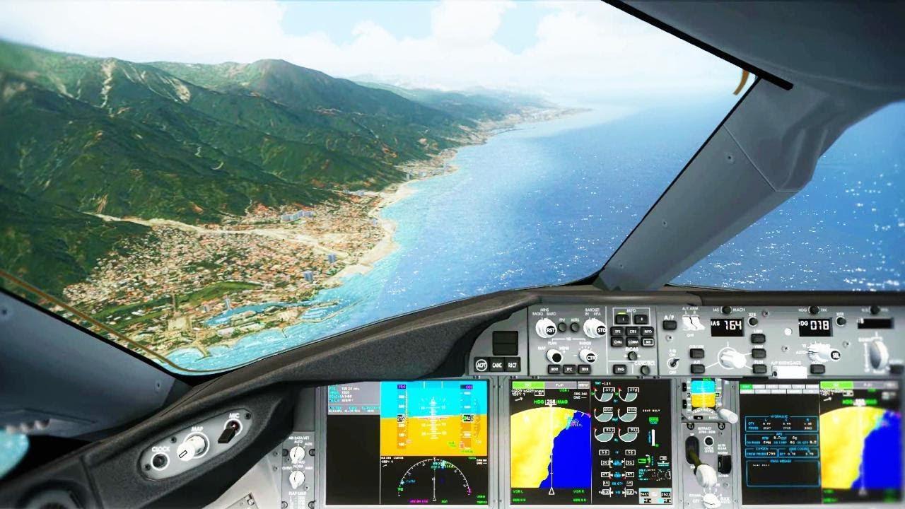 Fsx Boeing 787 Cockpit Visual Approach Amp Landing Caracas