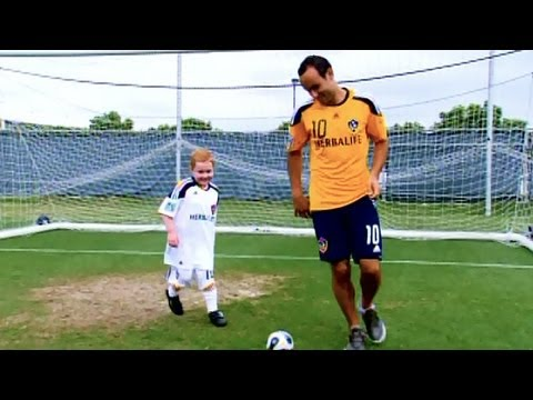"""My Wish"" series (2011): Brendan meets Landon Donovan of the LA Galaxy and U.S. Men's National Team"