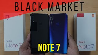 Redmi Note 7 Onyx Black (3 GB) Unboxing vs Blue | Durability Test | Display Repair | BLACK MARKET