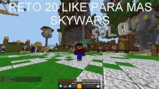 MINECRAFT | SERVER NO PREMIUM  SKYWARS #1