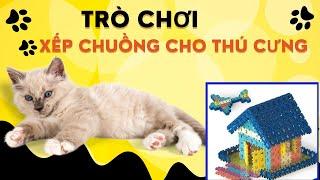 Dương Anh xếp chuồng đồ chơi cho động vật | Stables for animal toys ❤ DUONG ANH TV ❤