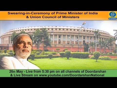 Live: Swearing-in-Ceremony of Narendra Modi as PM of India