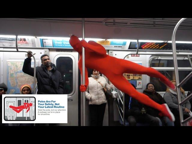 Duo Riding Subway in Leotards Re-Create Hilarious MTA Etiquette Ads