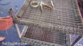 Hướng dẫn đan bàn sofa nhựa giả mây MT1a9