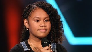 GEWELDIG Yosina Kaka (10jr) The Voice Kids The Blind Auditions 'Ken je mij, wie ken je dan' Jij & Ik