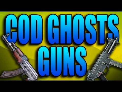 COD Ghosts Guns - AK47, UMP, Honey Badger! (Call of Duty Ghost Assault...