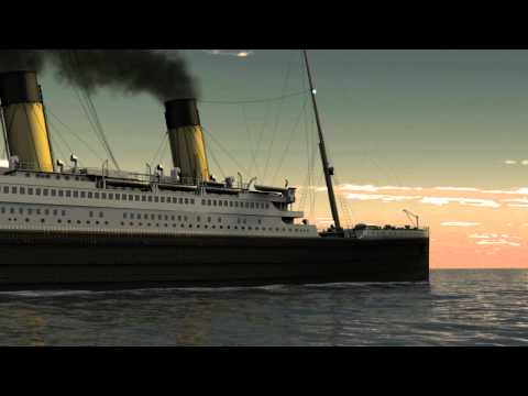 Titanic Sails into the Sun. 3D animation CGI