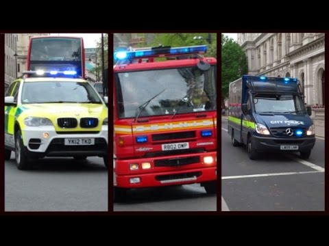 Police, Fire Appliances & Ambulances responding - BEST OF MAY 2015 -