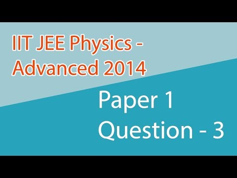 IIT JEE PHYSICS PAPER 1 Advanced 2014  Questions No  3