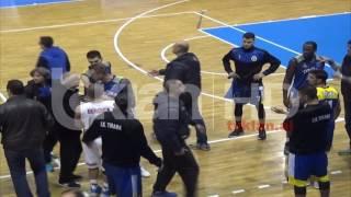 Grushta në ndeshjen e basketbollit Vllaznia – Tirana