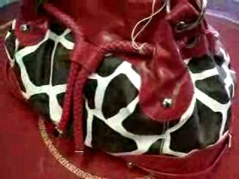 Red Giraffe Animal Print Purse,Shop The Chicago Purse Store Video