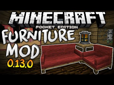 MORE FURNITURE in MCPE!!! - The Furniture Mod for 0.13.0 - Minecraft PE (Pocket Edition)