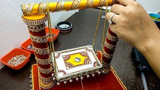 how to make jhula for bal gopal at home | kanha | diy jhoola | krishna janmashtami decoration ideas