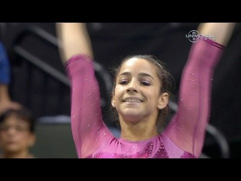 Alexandra Raisman 2nd in National after night one - from Universal Sports
