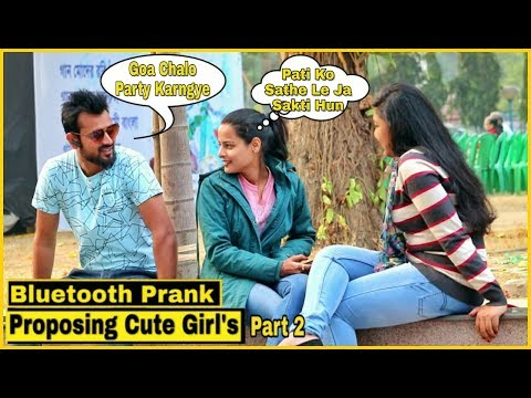 Bluetooth Prank Proposing Cute Girl's #2 - Epic Reactions - Pranks In India  By TCI