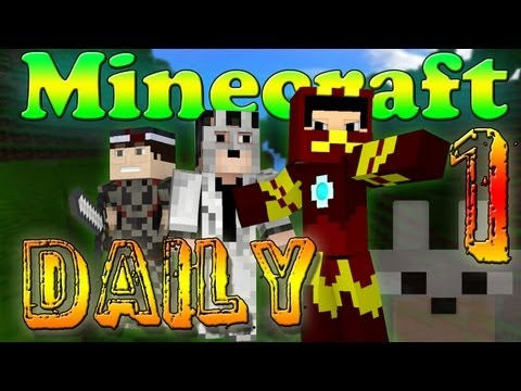 Minecraft Daily! - Ft. SlyFoxHound and Kevin! - I GOT MY FIRST DOG!!! (First Episode!)