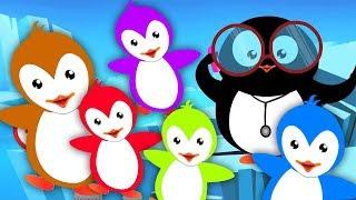 năm chú chim cánh cụt nhỏ | nhảy lên giường | vần mẫu giáo phổ biến | Five Little Penguins