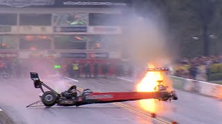 #ThrowbackThursday - Larry Dixon Top Fuel dragster throws a wheel