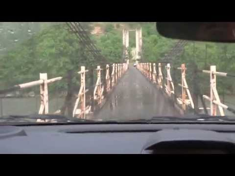 world's most narrow bridge across beas river manali,full hd video