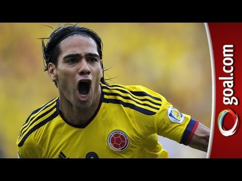 Beautiful FALCAO goal for Colombia v Paraguay in World Cup qualifier!