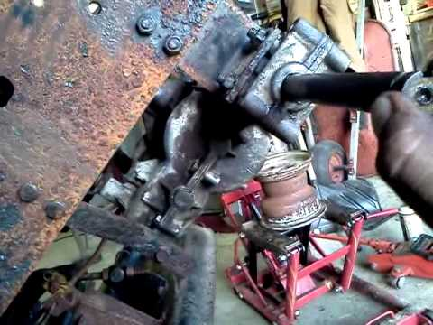 Removing rusted lawn tractor tire from axle