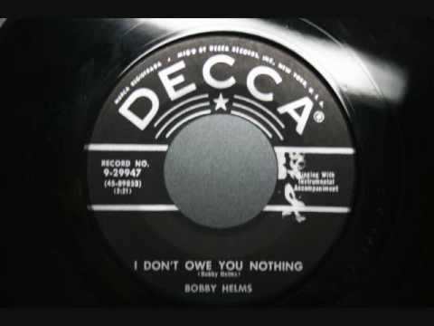 Bobby Helms - I don't owe you nothing