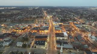 monroe michigan downtown drone