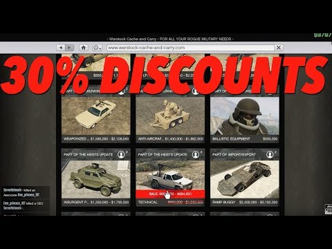 gta online weekly discounts! (sales, double rp, and more
