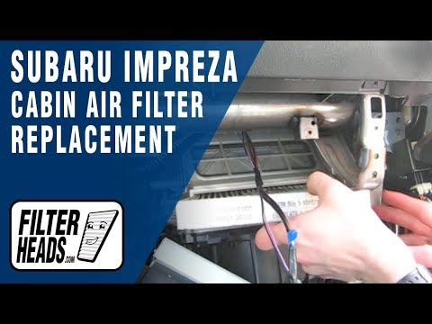 How do i replace the cabin air filter on my 2013 ford for Cabin air filter subaru forester
