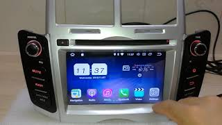 Android 8.1 OS car dvd plyaer for Toyota Yaris(2006-2011)