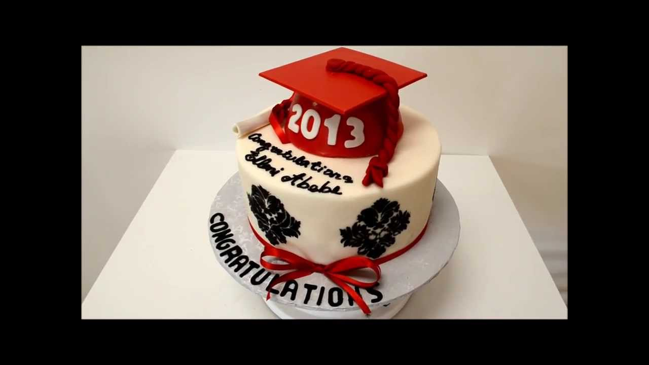 Graduation Cakes Maroon And White