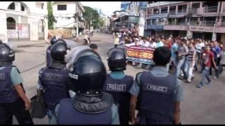 Hartal in Sylhet 27 10 13