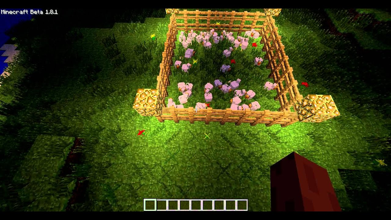 cage a poule minecraft youtube. Black Bedroom Furniture Sets. Home Design Ideas