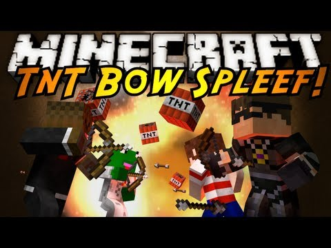 Minecraft Mini-Game : TNT BOW SPLEEF!