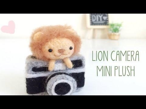 DIY Lion Camera Plush Needle Felt GIVEAWAY [Closed]