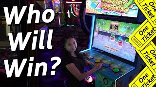 Who's going to win? - Arcade Ticket Off