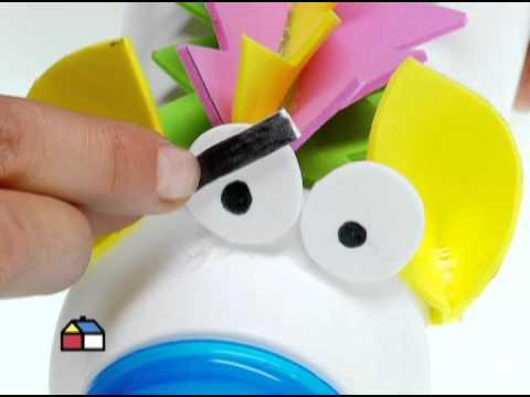 ¿Cómo hacer animales con envases de plástico?