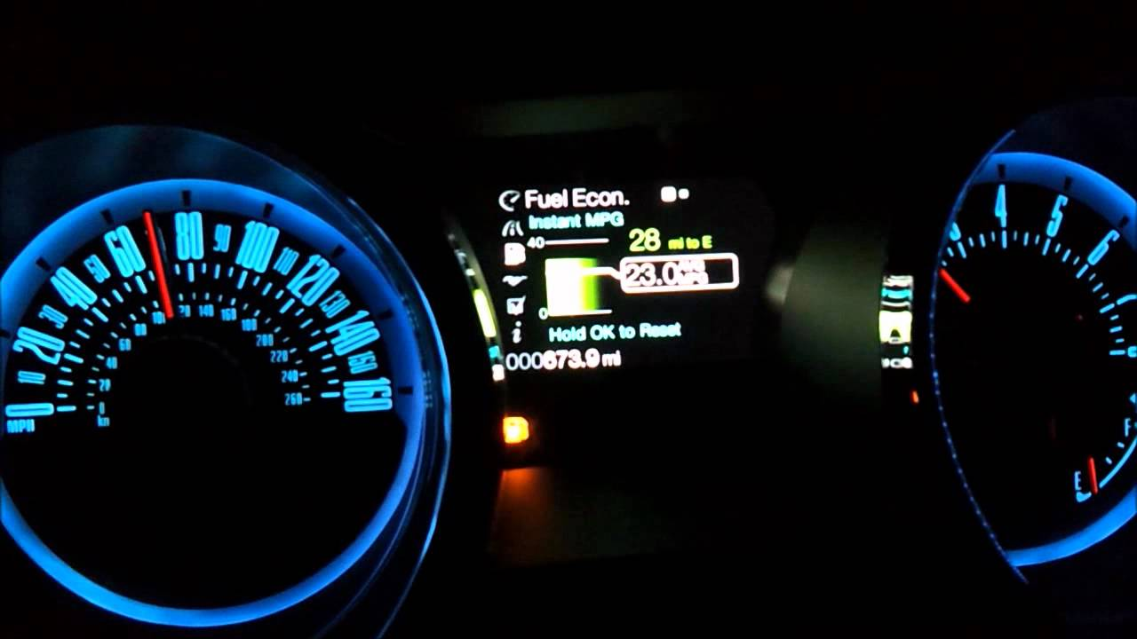 2013 Ford Mustang Gt 5 0 Premium Fuel Economy Gauge Lcd