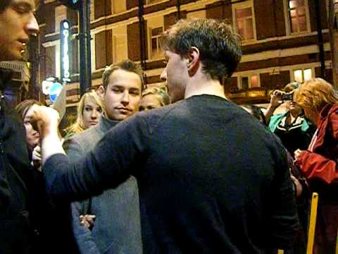 Meeting James McAvoy - Apollo Theatre.