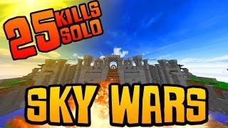 "Minecraft SOLO MEGA SKY WARS #12! ""25 SOLO KILLS?!"""