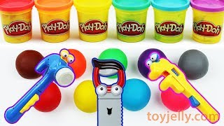 Learn Colors Play Doh Mickey Mouse Tools Baby Toys Disney Pooh Mold Kinder Surprise Joy Egg Toys