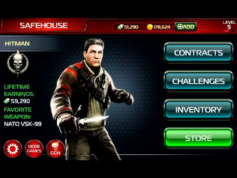 contract killer 2 android cheats