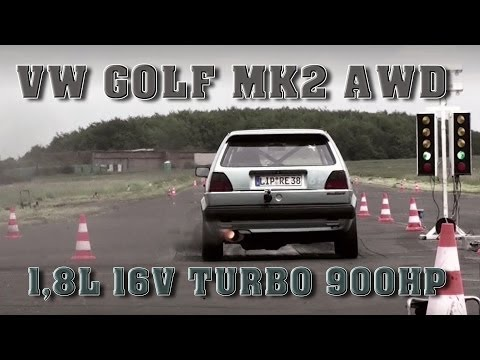 VW Golf MK2 AWD 900HP 9,08s @ 263kmh 16Vampir