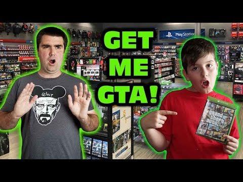Kids At GameStop Wanted Grand Theft Auto V Skit
