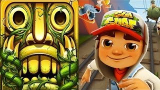 Temple Run 2 VS Subway Surfers iPad Gameplay for Children HD #30