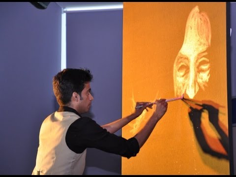 Vilas Nayak painting Dr. APJ Abdul Kalam for India Inclusion...