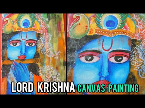 Lord Krishna painting- Beautiful Canvas painting by my student