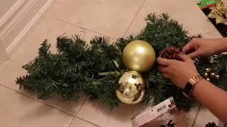 DIY Christmas Garland / Centre Piece for Under $10